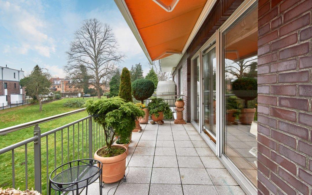 Sonnenbalkon der Wohnung in Hamburg Bramfeld