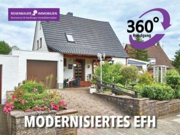 MODERNISIERTE IMMOBILIE MIT GROßEM GARTEN UND KELLER, 23879 Mölln, Einfamilienhaus