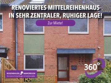 RENOVIERT! SEHR RUHIGE, ZENTRALE LAGE., 22941 Bargteheide, Reihenmittelhaus