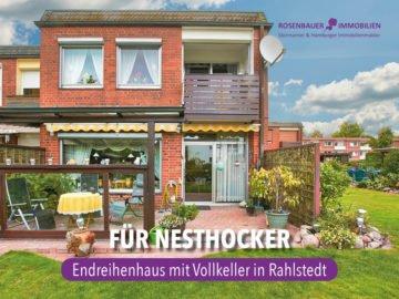 FÜR NESTHOCKER. ENDREIHENHAUS MIT VOLLKELLER IN RAHLSTEDT., 22149 Hamburg / Rahlstedt, Reihenendhaus